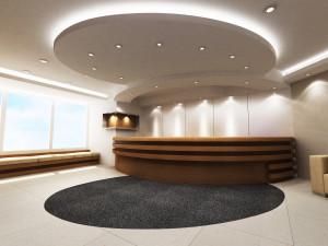 reception area lighting electrician